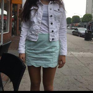 Lilly Pulitzer Seersucker Green Skirt - Size 2